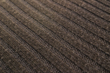 Brown woolen knitted fabric angle