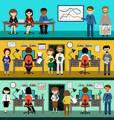Office life. People in the style flat design