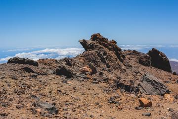 Volcanic lava landscape of Tenerife
