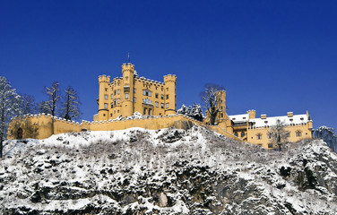 Castle Hohenschwangau in winter - Bavaria, Germany