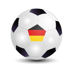Flag of German on soccer ball