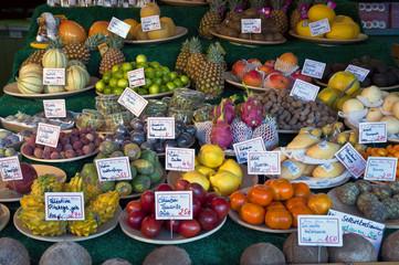 Fruits in Viktualienmarkt in Munich, Germany