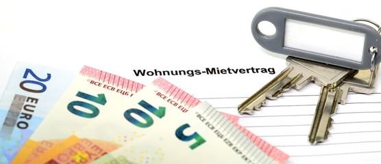 Schlüsselbund Banner Geldscheine