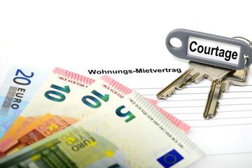Mietvertrag und Courtage