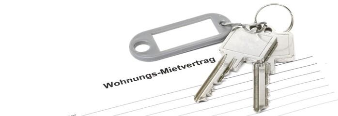Schlüsselbund Banner Mietvertrag