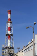 The new chimney built in CHP plant