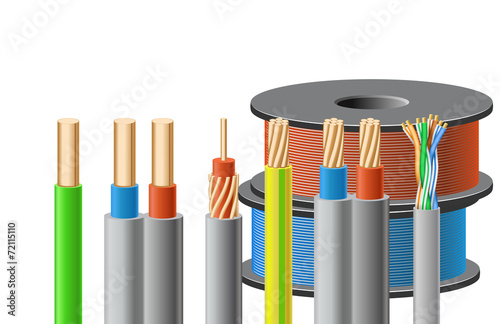 Different kinds of cables. - 72115110