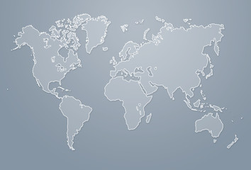 Modern world map illustration