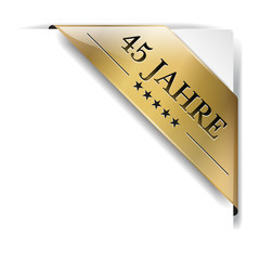 Banderole Gold 45 Jahre