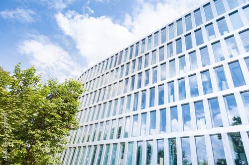 Leinwandbild Motiv Büro - modernes Gebäude in Deutschland