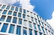 Leinwandbild Motiv Bürogebäude in Frankfurt -- Hochhaus