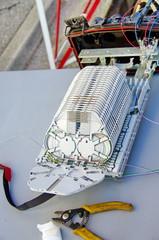 boitier-installation de la fibre optique