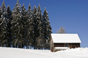Winter landscape in the Schwarzwald, Germany