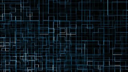 Zusammenfassung blauem Hintergrund, animierte karierten Linie