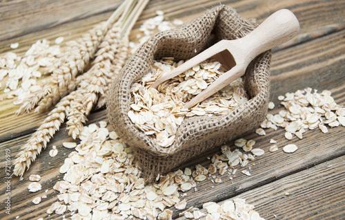 Canvas Granen oat flake