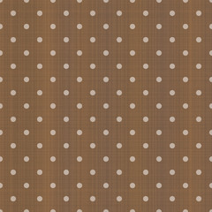 Vector Background # Polka Dot Pattern, Brown Cloth