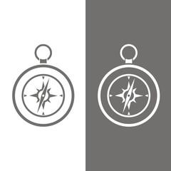 Icono brújula BN