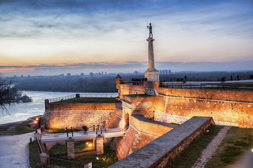 Statue of Victory in capital city Belgrade, Serbia
