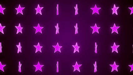 pink stars, abstract loop motion background