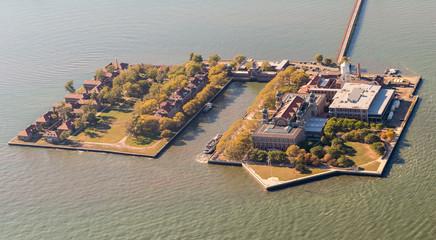Aerial View of Ellis Island, New York