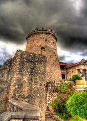 A tower of Trsat castle in Rijeka, Croatia