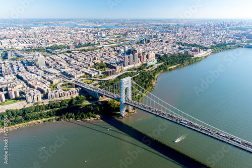 Staande foto New York City Aerial View of George Washington Bridge, New York/New Jersey