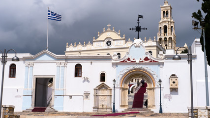 Church of Panagia Evangelistria at Tinos island in Greece