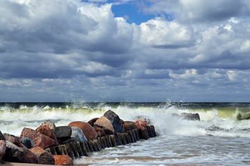 Stormy Baltic sea