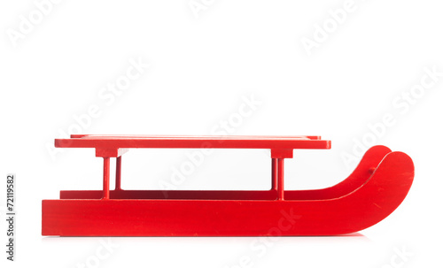 Wooden red sled - 72119582