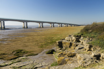 Western end of the Second Severn Crossing, bridge over Bristol C