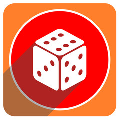 game red flat icon isolated