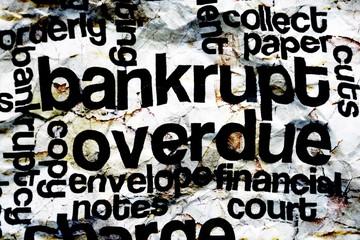 Bankrupt overdue concept