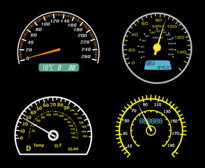 Speedometers dials set