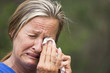Crying woman stressed in grief