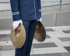 Man with cymbals