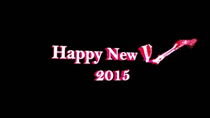 Happy New Year 2015, 3d particles that are transformed