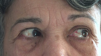 Eyes of a senior woman or lady