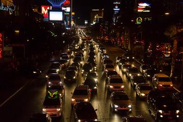 Traffic jam in Las Vegas