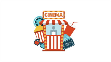 Cinema icons Animation, HD 1080