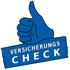 tus229 ThumbUpSign tus-v38 - Versicherungscheck - blau g2329