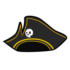 pirate hat isolated illustration