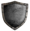 Old medieval shield isolated - 72125332