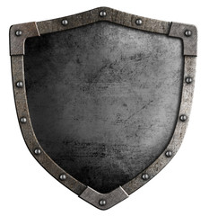 Old medieval shield isolated