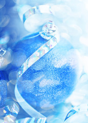 christmas ball on abstract light background,Shallow Dof.
