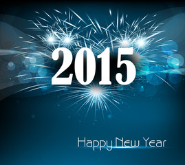 Vector celebration colorful happy new year 2015 background illus