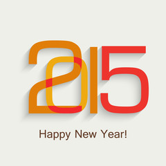 New Year`s 2015 celebration design colorful vector