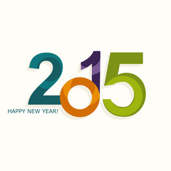 New year 2015 vector numbers colorful design