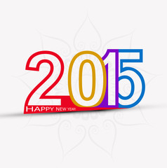 Happy New Year 2015 creative colorful celebration design vector