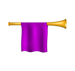 Trumpet with purple flag