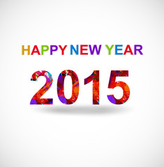 New year 2015 creative greeting card vector